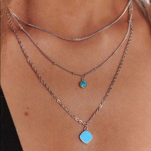Silver & Turquoise Layered Necklace